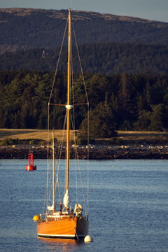 Schooner at Bar Harbor, Maine