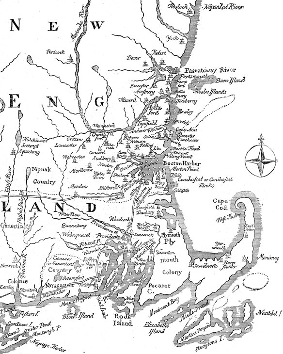 historical New England map