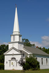 traditional New England church building